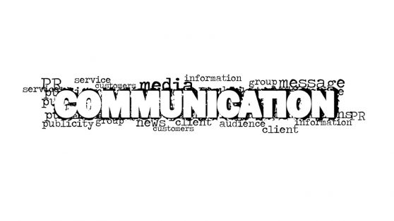 Tech Bold Communication Word Cloud Design