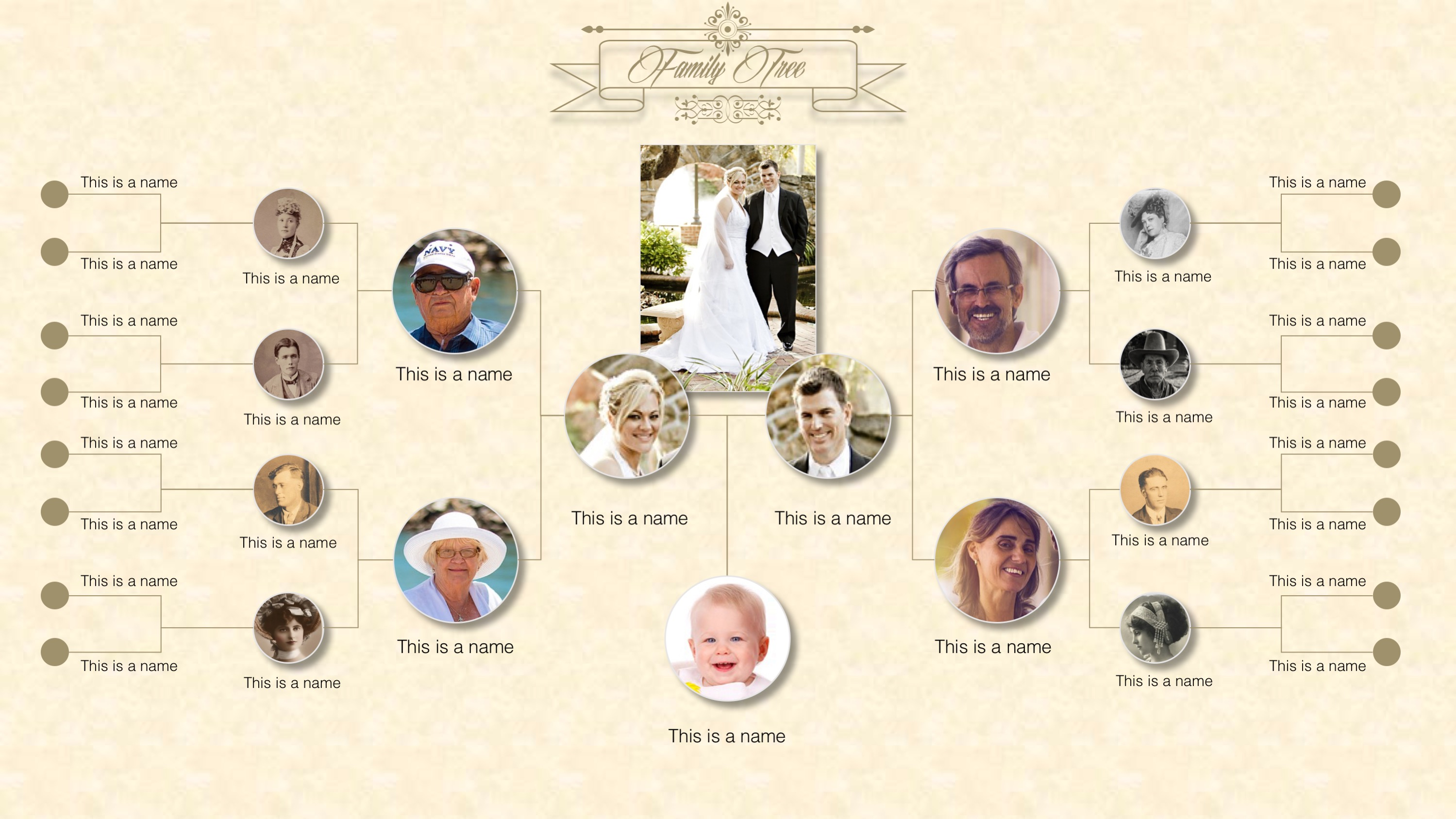 family tree powerpoint templates slidemodel