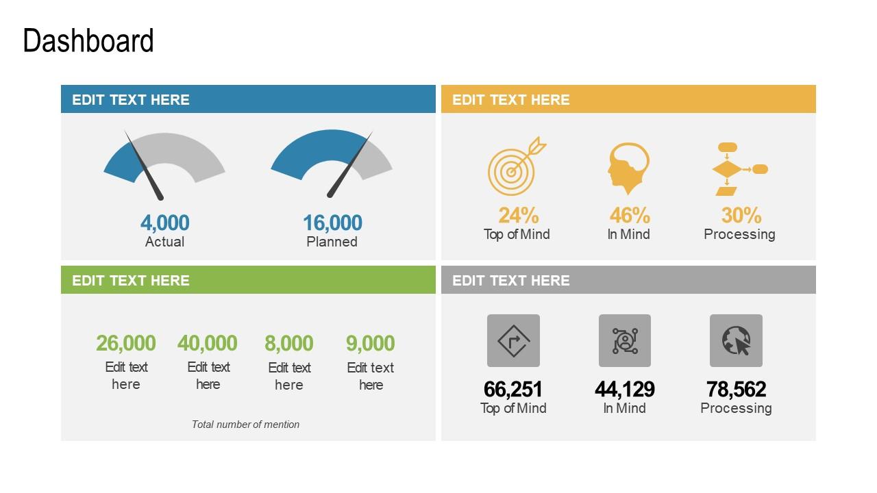 Business Sales Marketing Dashboard Slide