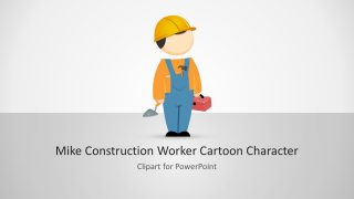Construction Worker Illustration of Mike