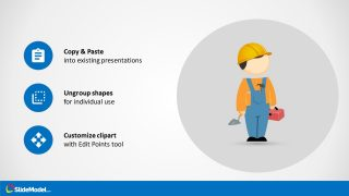 Editable Mike Cartoon of Construction Template