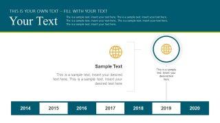 Globe Shape PowerPoint Slide Timeline