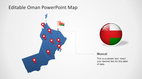 PPT Clipart Oman Map Template
