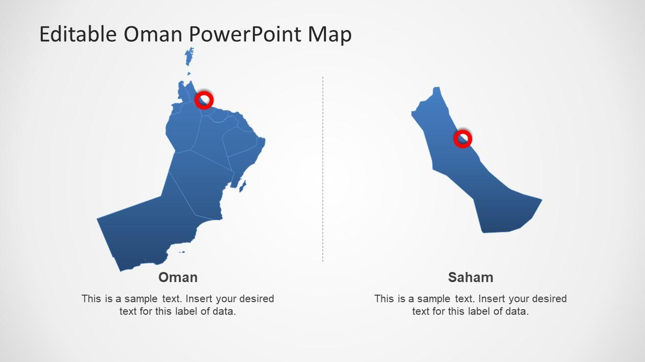 Creative PPT Oman Map