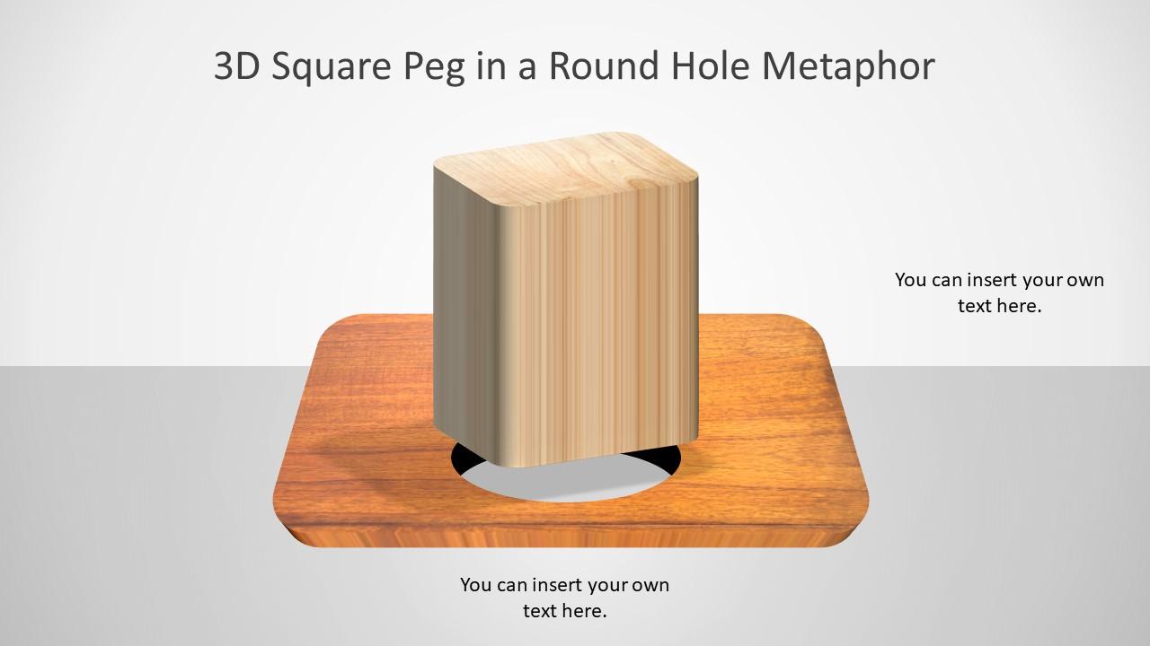 Round Circles 3D Pegs PPT Blocks