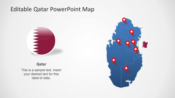 Flag and Map Icons Qatar