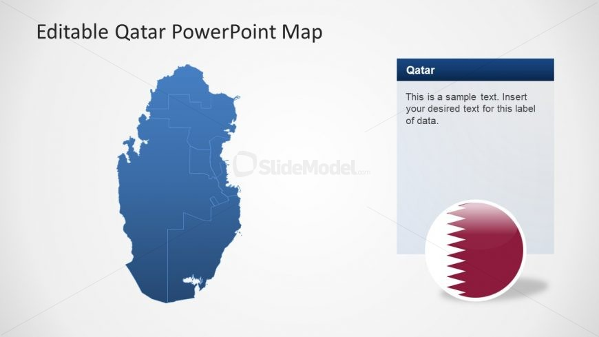 Bordered PowerPoint Editable Map