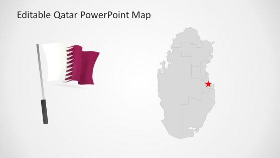 Qatar PowerPoint Map and Flag