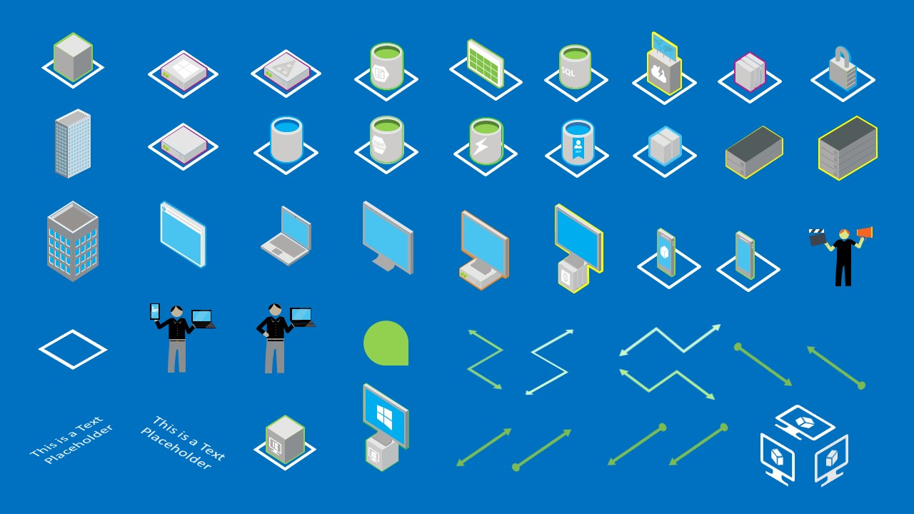 Clipart Cloud Services PowerPoint