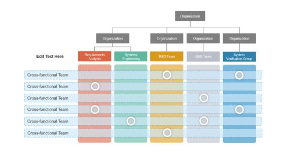 Organizational PowerPoint Cross Functional Chart
