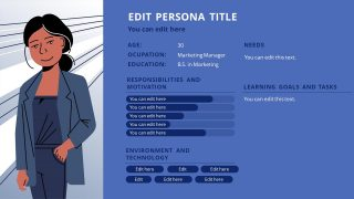 Presentation of Persona Analysis Layout