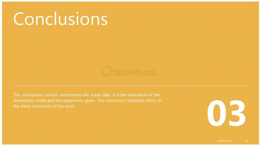 PPT Essay Outline Template Conclusions