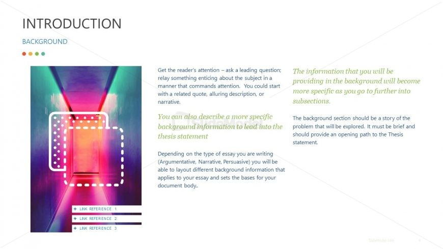 PowerPoint Template Essay Outline Background