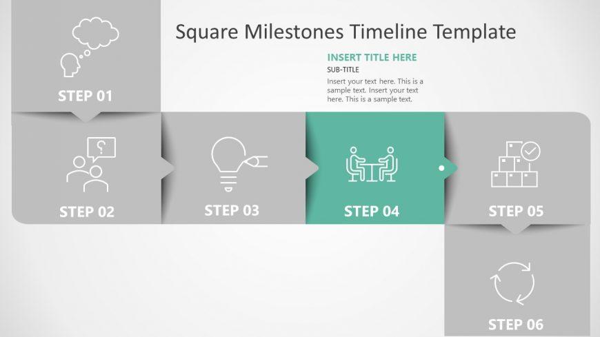 Roadmap with 6 Milestones PPT