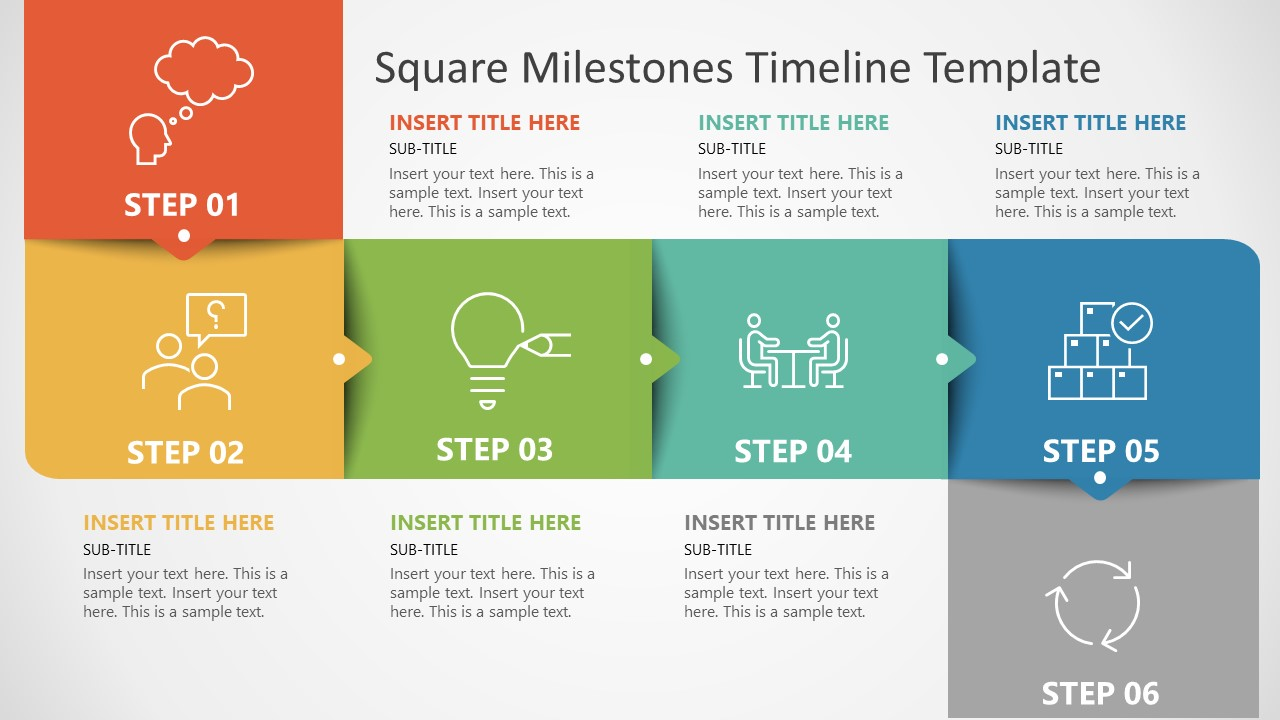PowerPoint Template of Square Milestones