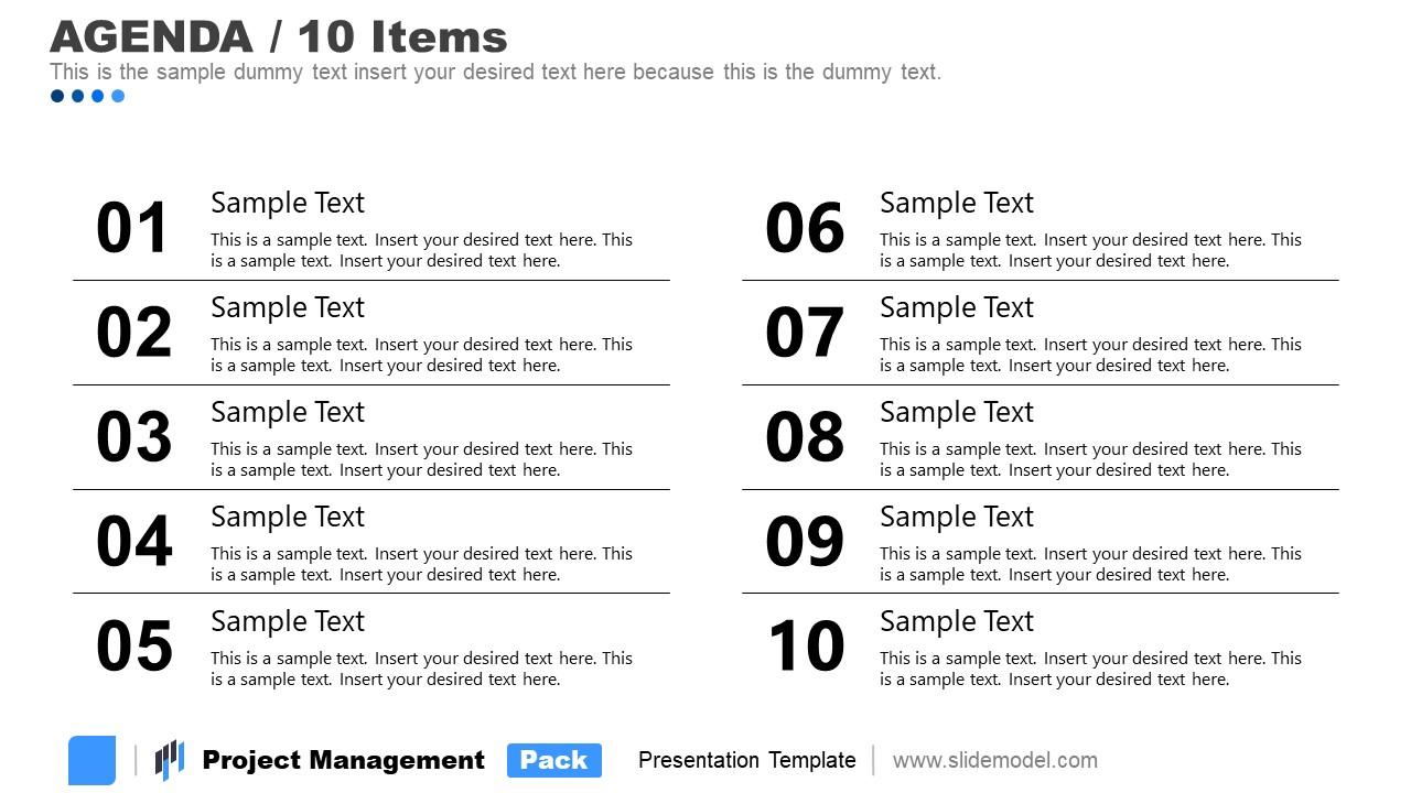 Contents Agenda 5 Project Management