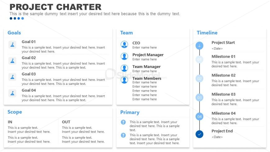 Editable Project Charter PowerPoint