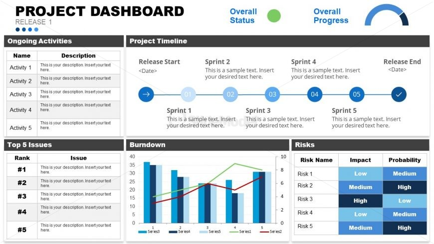 Project Management Dashboard Template