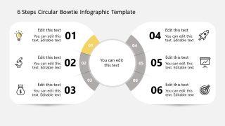 First Step Bowtie Circular Diagram Infographics