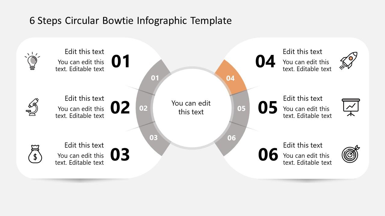Fourth Step Bowtie Circular Diagram Infographics