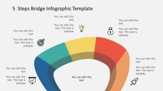 PowerPoint Infographic Diagram Bridge Template