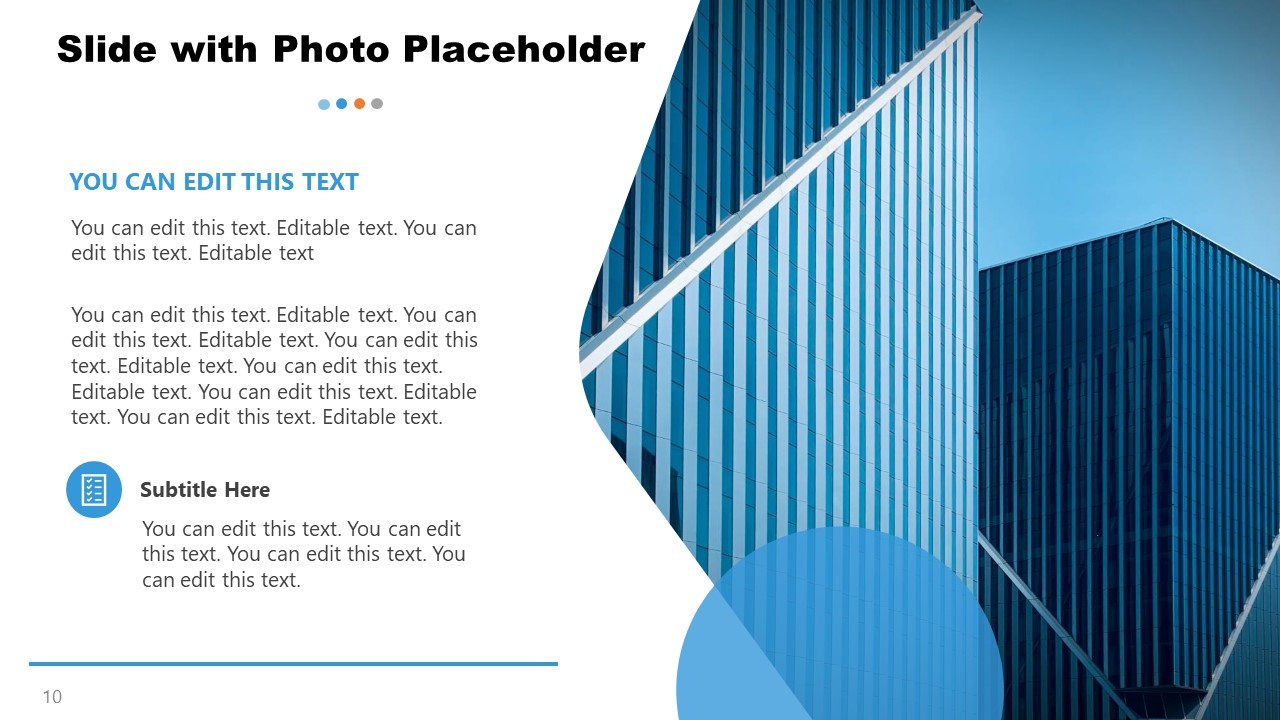 Content Slide with Photo Placeholder