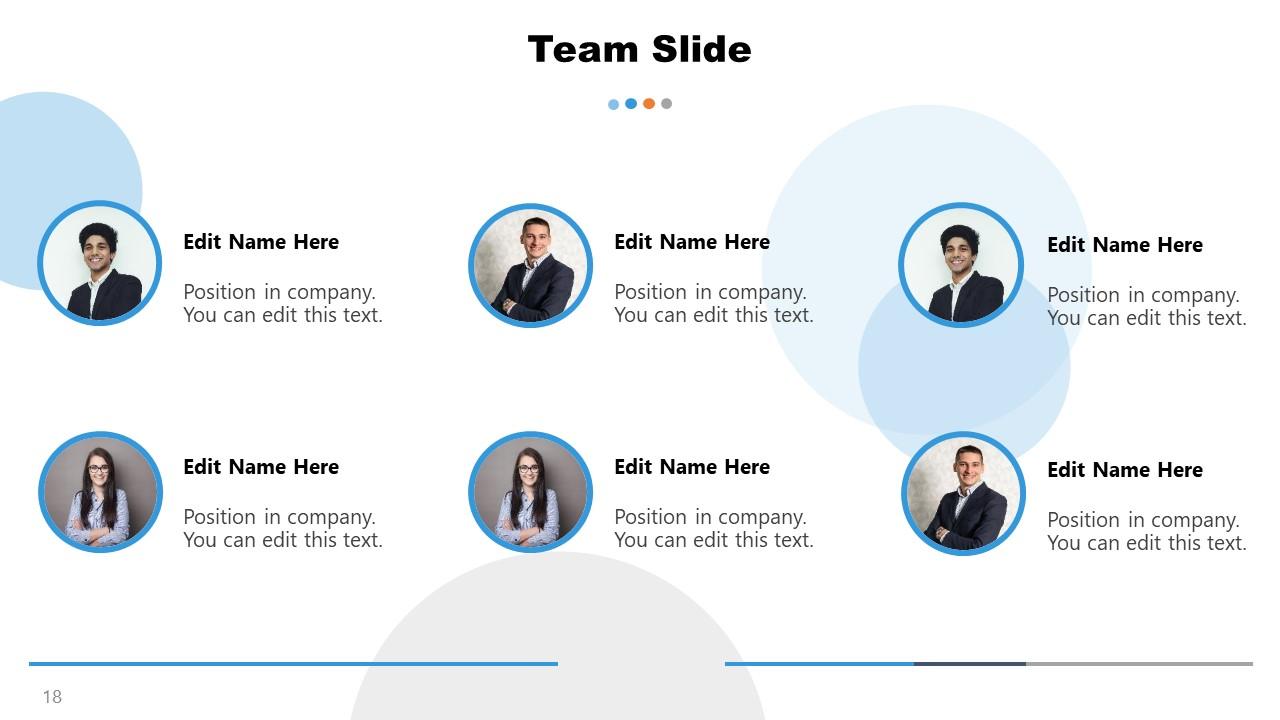 PowerPoint Team Presentation Slide