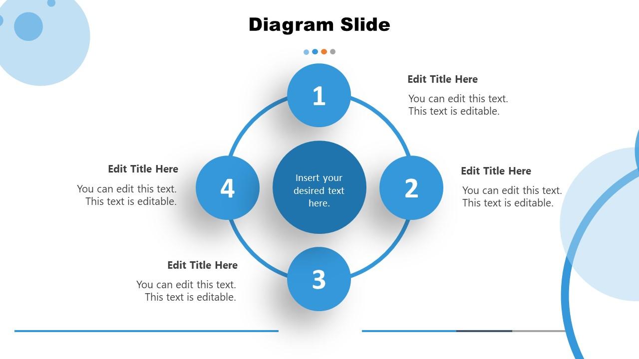 Minimal Diagram PowerPoint 4 Steps