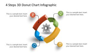 PowerPoint Diagram 4 Stages 3D Donut Chart