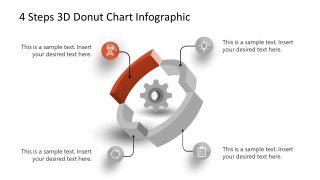 3D Donut Chart Step 1 Diagram PowerPoint