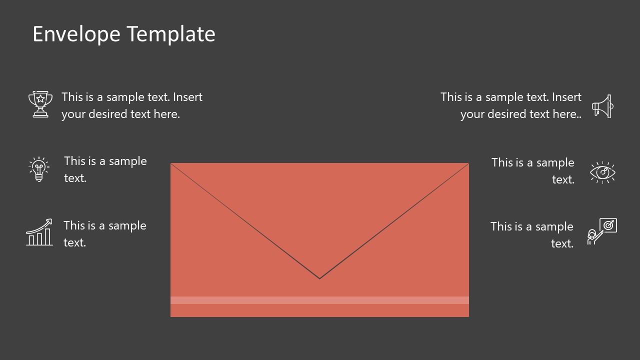 PowerPoint Slide of Envelope Graphics