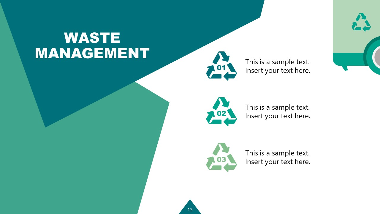 PowerPoint Waste Management Industry Bullet Points