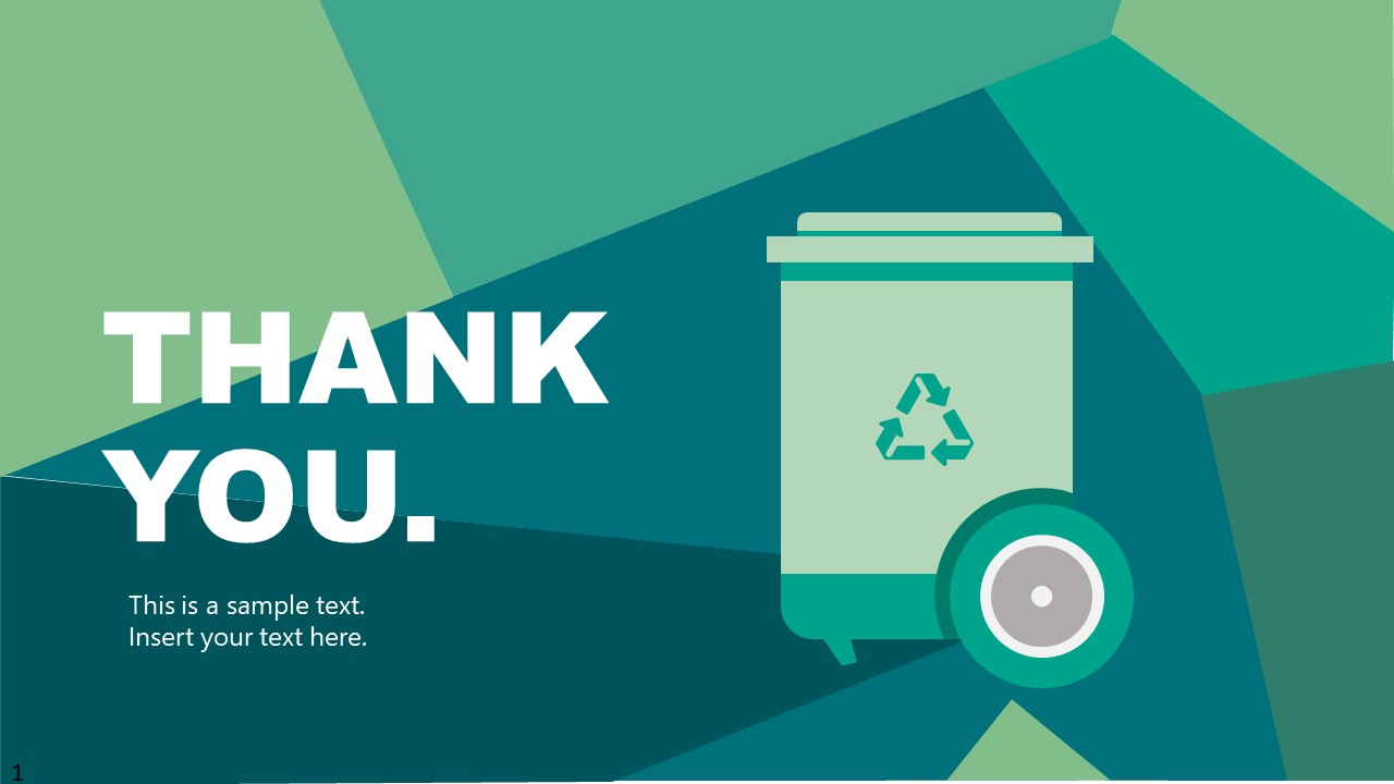 PowerPoint Waste Management Industry Thank You