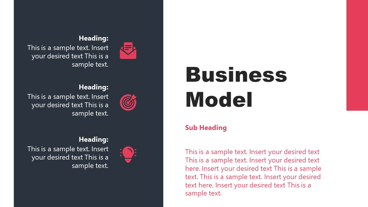 Business Model PowerPoint Template of Contents