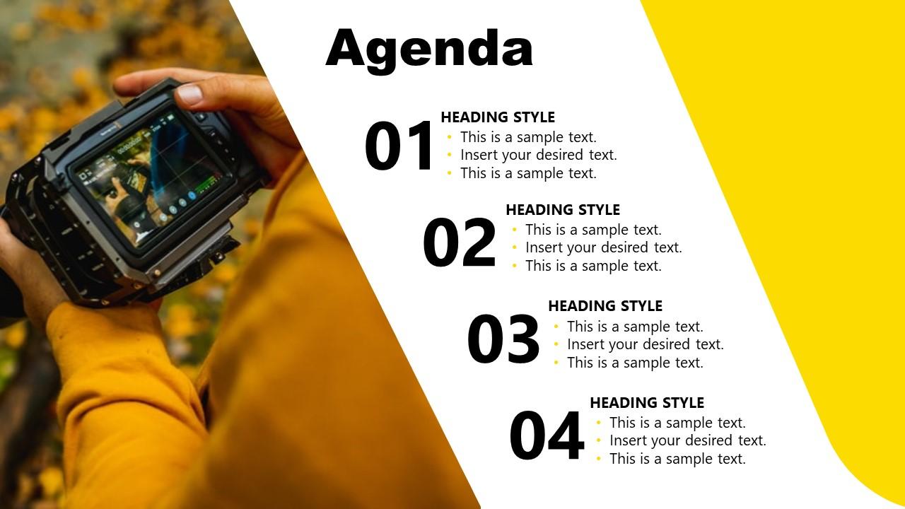 Agenda Slide for Brand Strategy Presentation