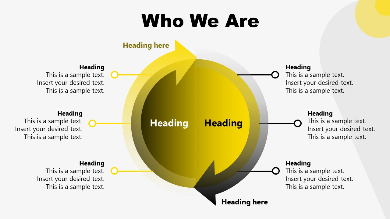 Who We Are Slide for Brand Strategy Presentation
