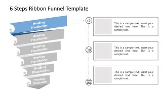 Funnel Chart Step 1 PowerPoint Diagram