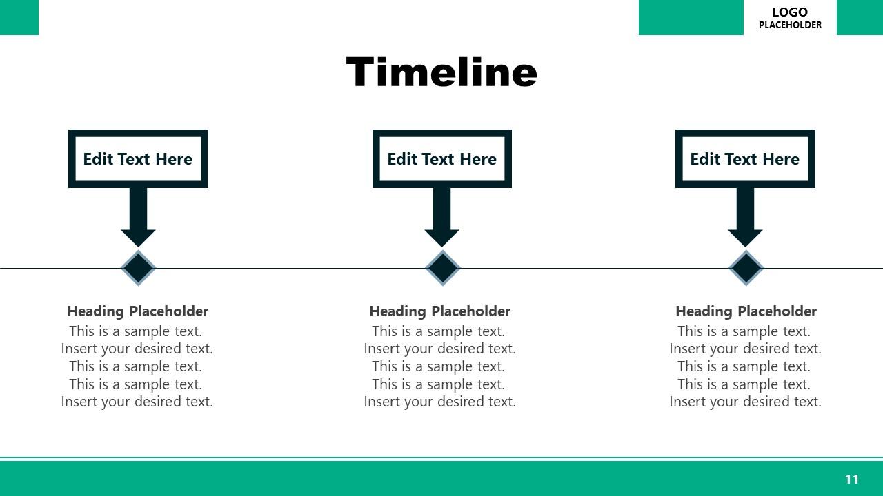Horizontal Timeline PowerPoint Executive Presentation