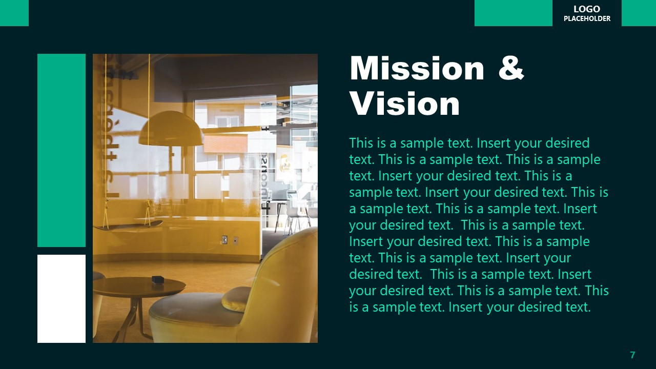 Mission Vision PowerPoint Executive Presentation
