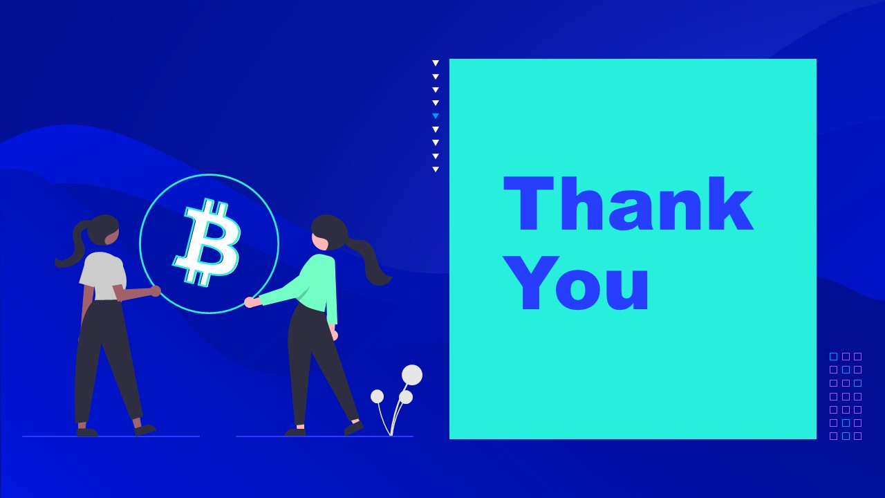 PowerPoint of Cryptocurrency Thank You Template