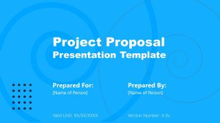 Blue Slide Design Cover Slide PPT Project Proposal