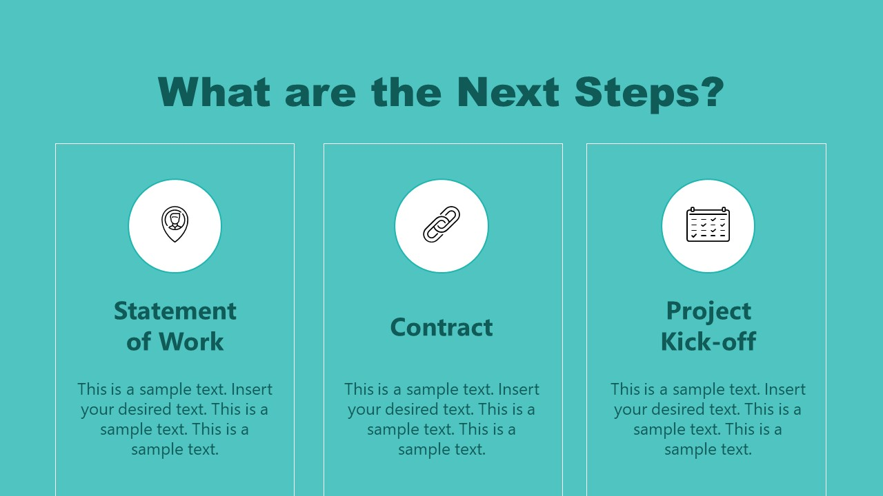 PPT Next Steps Slide of Shopify Store