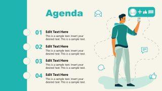 PPT Agenda Slide of Shopify Store Presentation