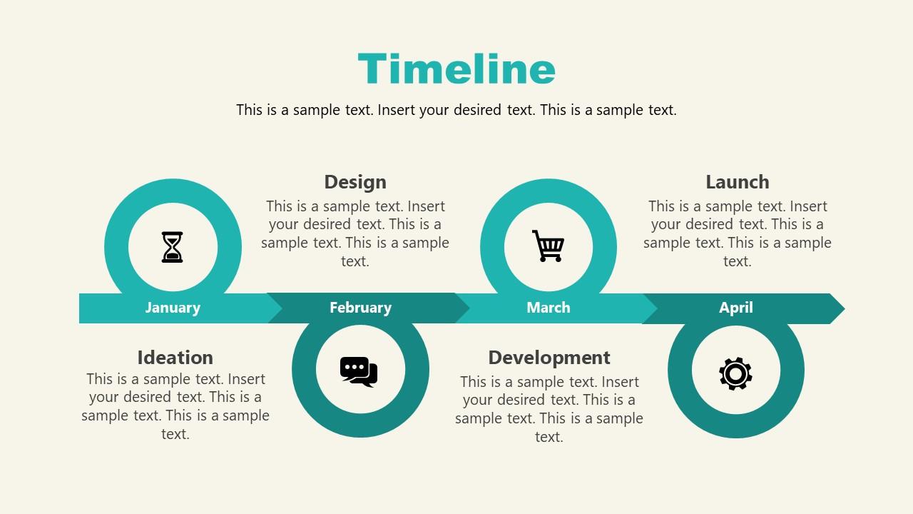 PPT Timeline Slide of Shopify Store Presentation