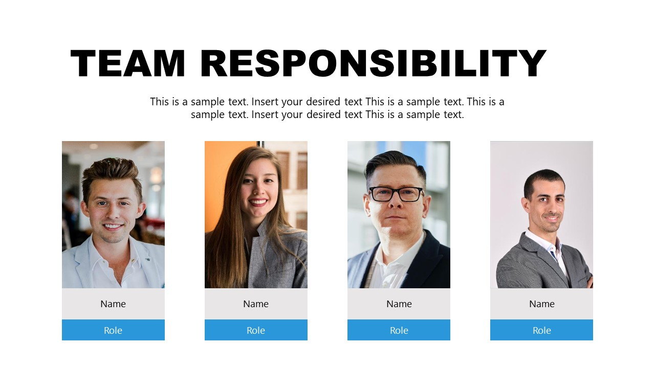 Template of Team Responsibility for Incident Management