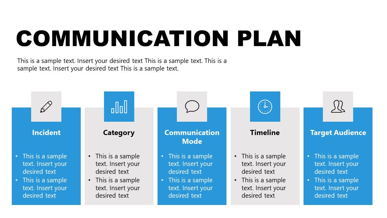 Template of Communication Plan for Incident Management