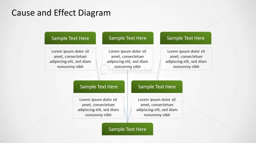 Root cause and effect diagram design for powerpoint slidemodel - Wit ceruse effect ...