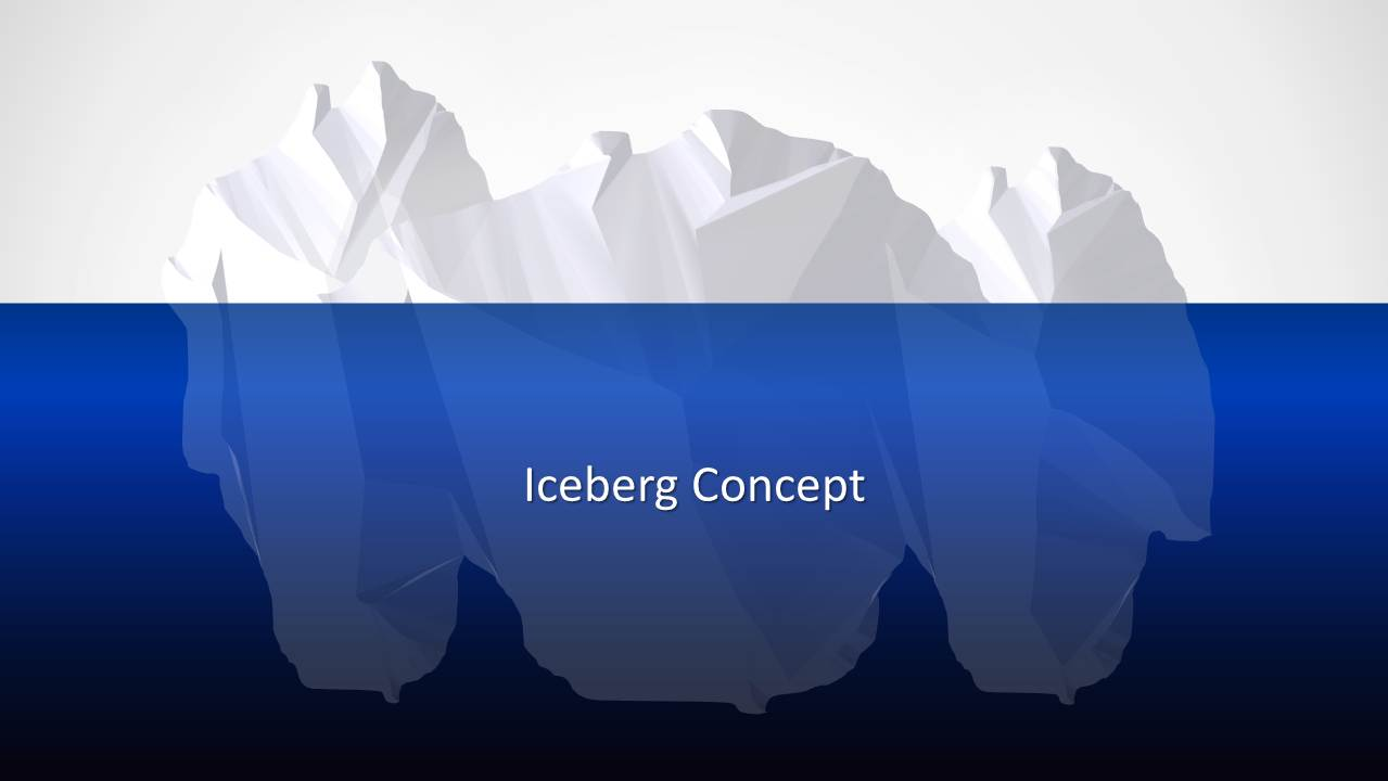 pareto principle powerpoint template slidemodel iceberg powerpoint template