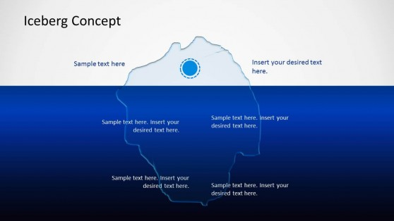 Iceberg PowerPoint Template with Blue Slide Design