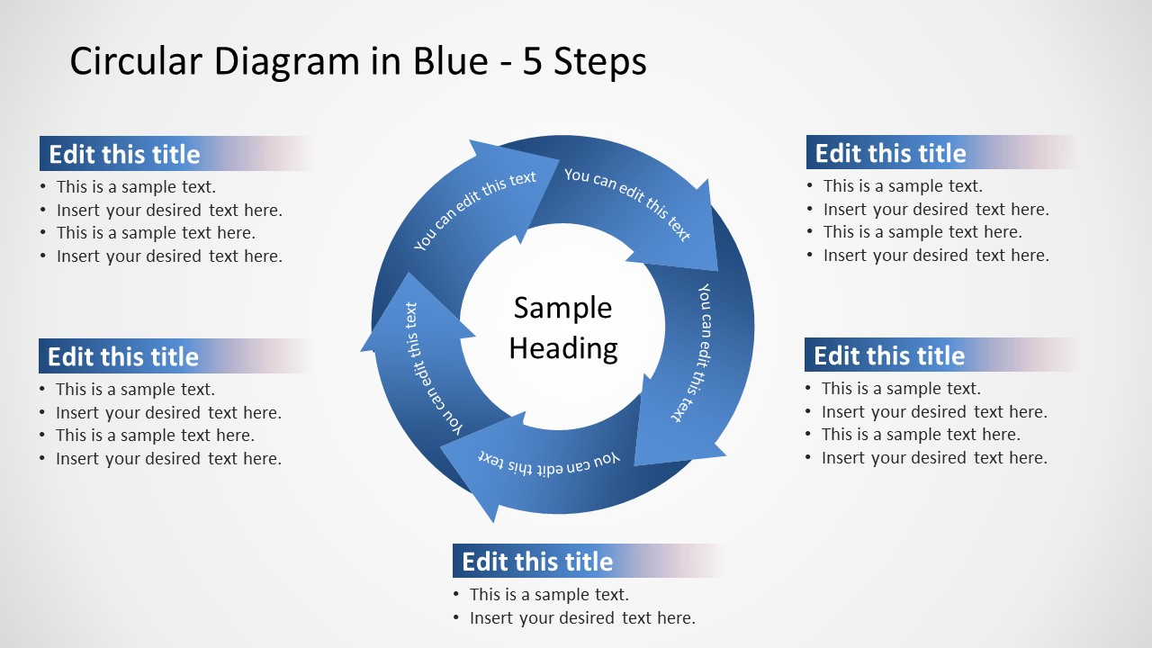 Blue Theme Arrow Circular Diagram